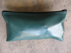 vinyl bank bag