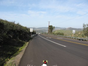 Near top of Poway Grade looking back