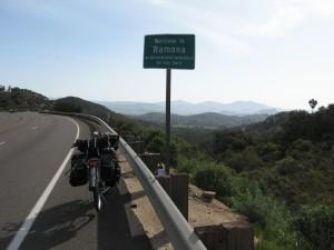 Entering Ramona on Highway 67