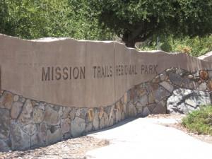 Mission Trails Regional Park sign