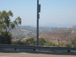Pomerado Road looking down into Poway