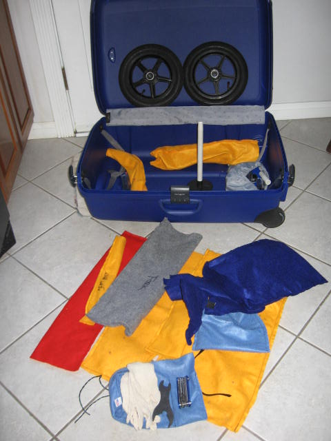 Packing Materials & Suitcase