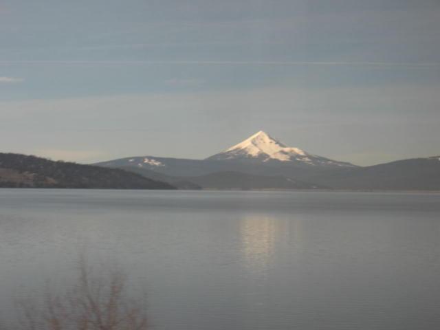 Klamath Lake with Mount Shasta