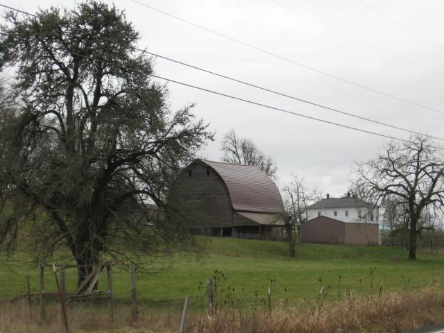 Barns everywhere.