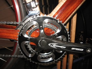 bottom bracket of Renovo Hardwood Bicycle