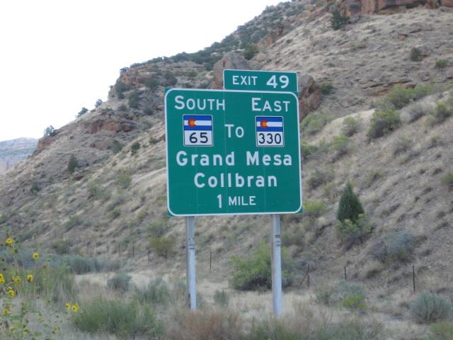 Grand Mesa Turnoff