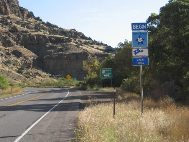 Beginning of Grand Mesa Scenic Byway
