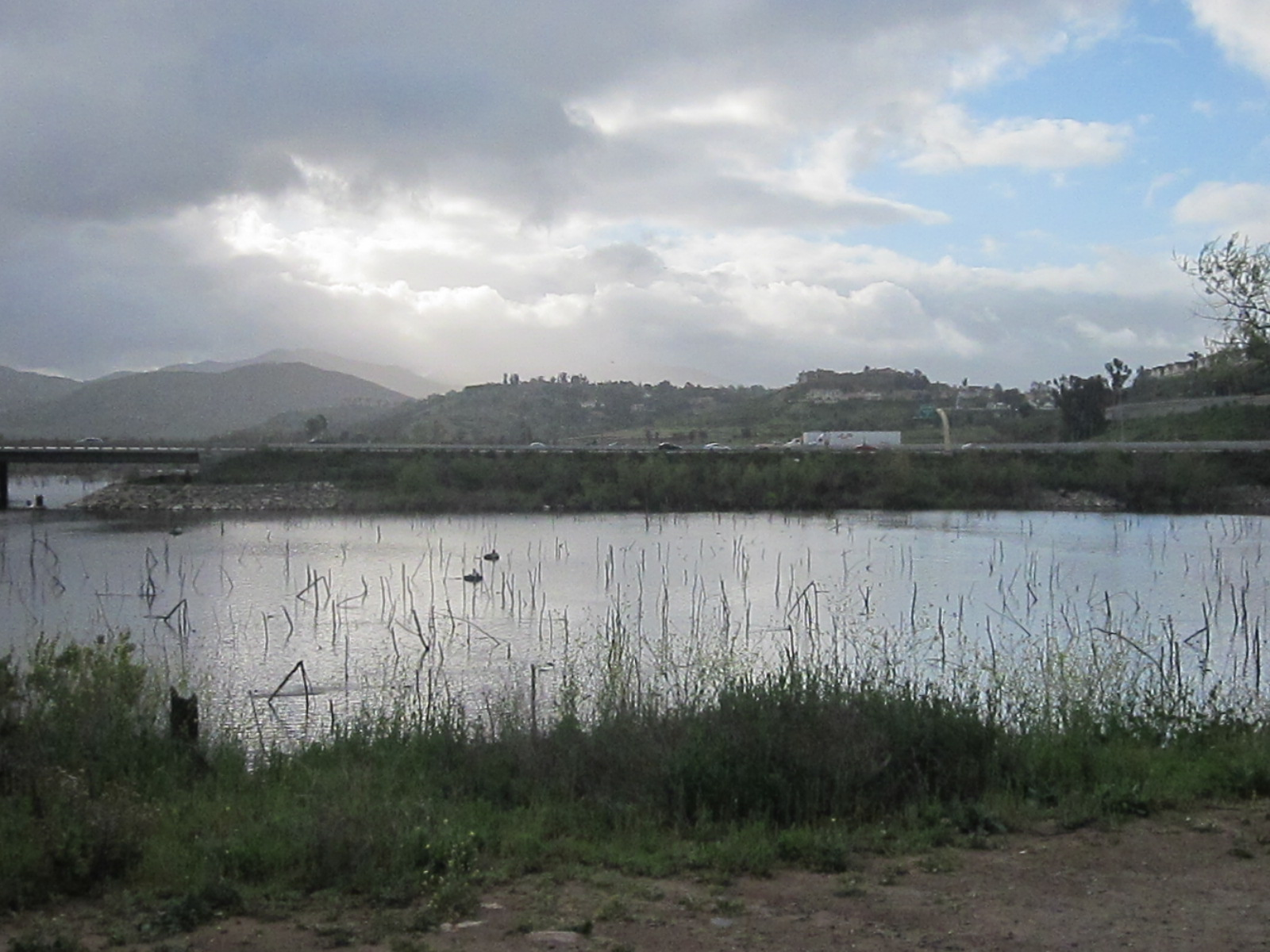 Another view to the east across Lake Hodges