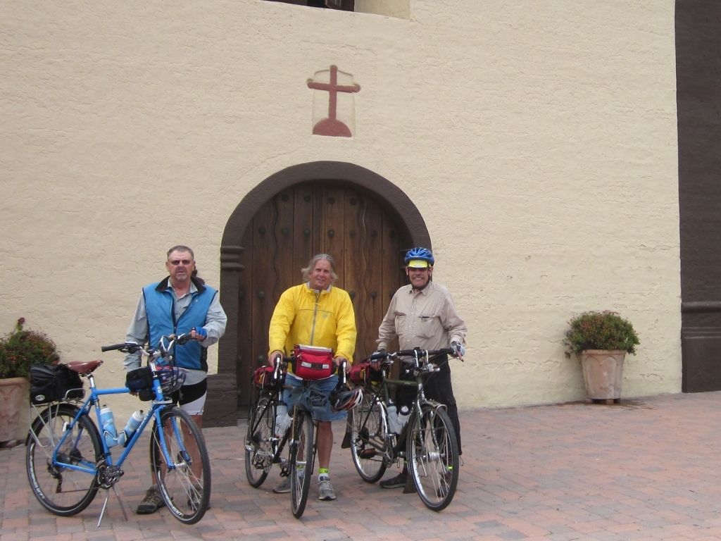 Three Amigos in front of Chapel
