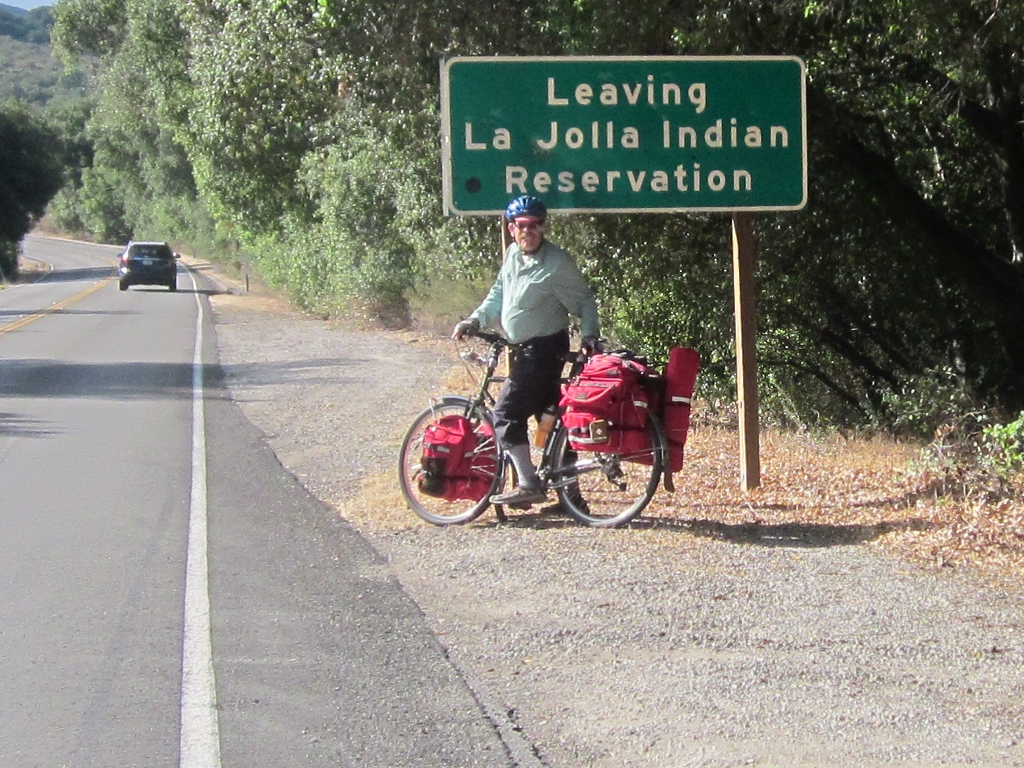 Leaving La Jolla Indian Reservation